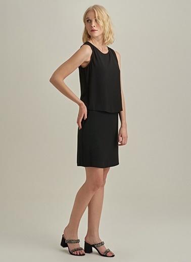 NGSTYLE Katlı Elbise Siyah